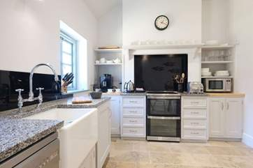 The bespoke designer kitchen.