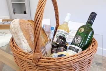 A handpicked seasonal basket of Cornish Artisan produce awaits your arrival.