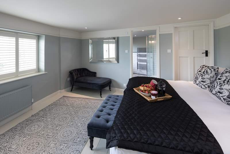 The master bedroom boasts a huge double bed and a fabulous en suite.