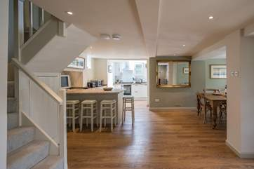 The fabulous open plan flow gives this cottage a real sense of space and style.