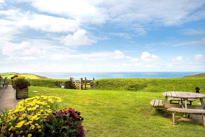 Enjoy an afternoon tea at the local farm shop whilst taking in the view.