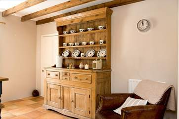 The country-style dresser in the kitchen/dining-room.