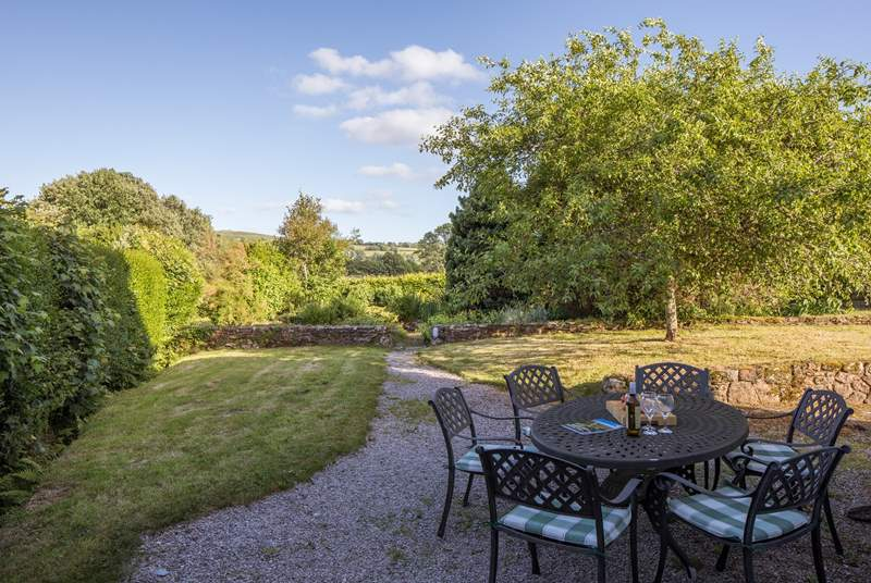 The views over Dartmoor from your garden and patio-area are stunning.