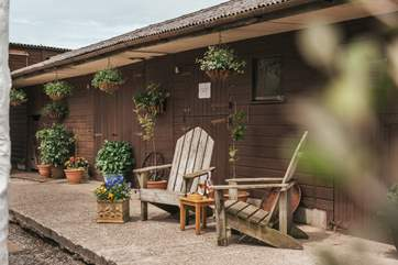 A great place to sit with your morning cuppa or evening drinks.