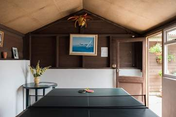 Table-tennis in the games-room.