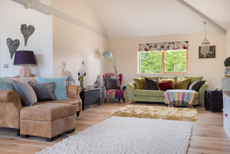 Comfy sofas to relax in.