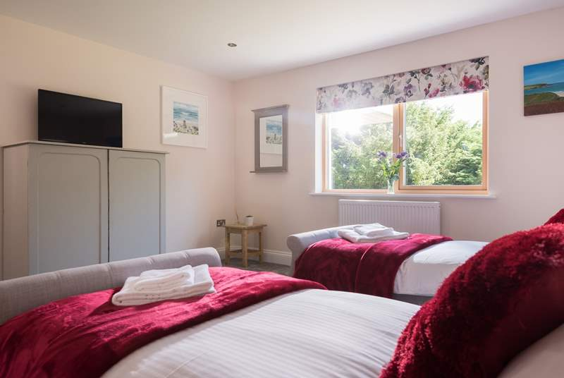 One of the twin bedrooms.