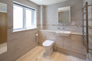Another angle of the shower-room shows how spacious this fabulous room is.