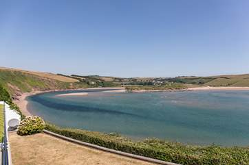Equally jaw-dropping views out over the beach of Bantham.