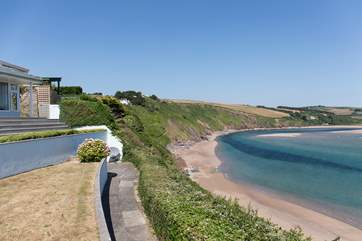 From the bottom tier of the garden you get a great feel for how close you are to the beach. Only a mere 100+ steps down from your private access.