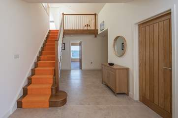 Step into Sunnynook and prepared to be wowed. This entrance hall connects the house wonderfully.