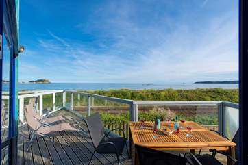 Relax on the balcony and watch the ebb and flow of the tides.