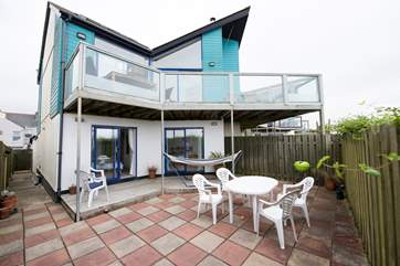 The patio is accessed via the two double bedrooms and the balcony is on the first floor.