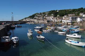Mousehole, is an amble along the seafront.