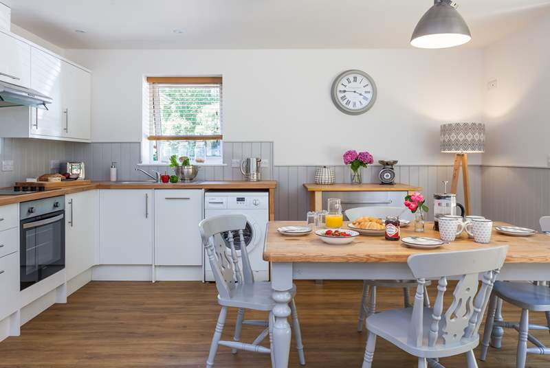 The kitchen/diner is bright and sunny and the perfect place to cook up a super spread.