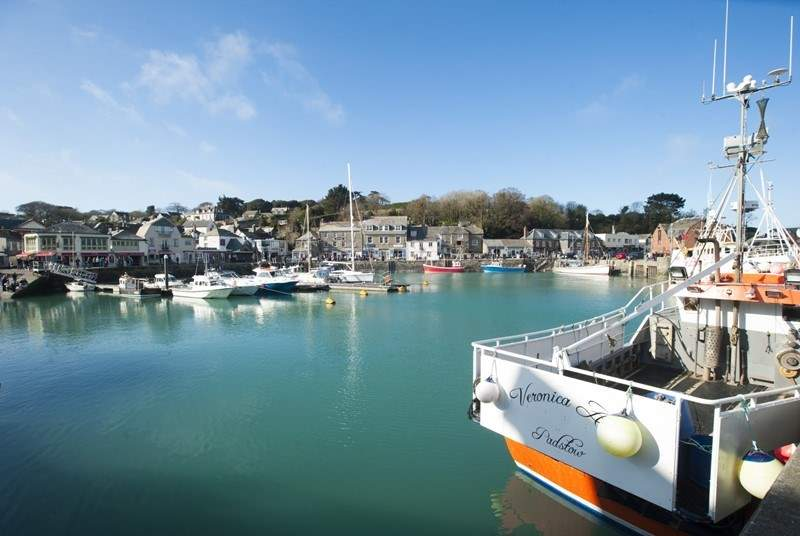 Perfect Padstow is a short drive along the north coast.