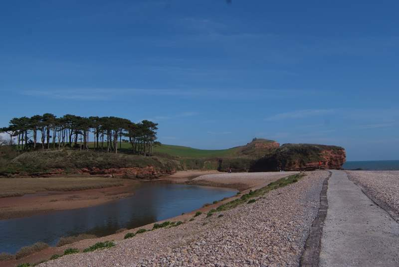 This is Budleigh Salterton - the start of the iconic Jurassic Coast that stretches through East Devon into Dorset.
