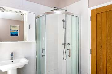 The en suite also has a separate shower. There is also another shower-room at Daybreak Cottage.