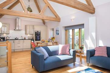 Daybreak Cottage has a lovely open plan living-room perfect for spending time together.