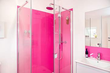 The bright en suite shower-room for bedroom 1.