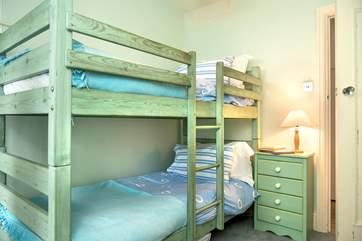 The children will love sleeping in the bunk-beds in bedroom 4.