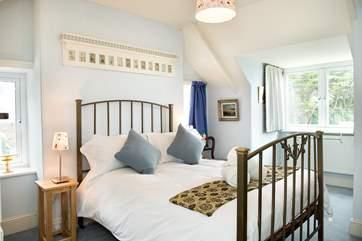 Bedroom 3 has a gorgeous antique bedstead.