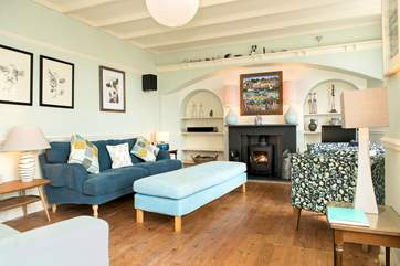 For an alternative place to unwind and relax there's a second sitting-room at the front of the house which has a toasty wood-burner ideal for those out-of-season breaks.