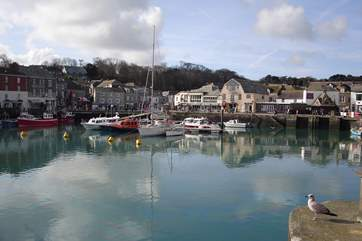 Well known Padstow of Rick Stein fame is a little further down the coast.
