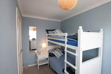 The bunk-bed room with sea views