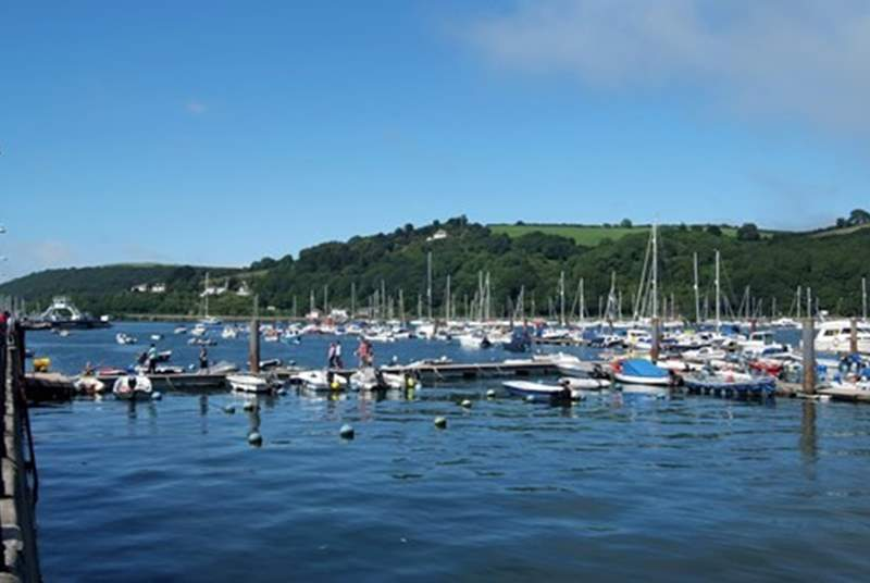 Dartmouth's marina is alive with all sorts of craft. Such a stunning sight.