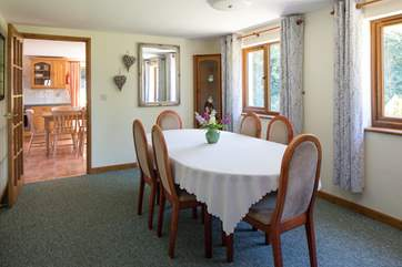 The dining-room offers another spot to gather as a family and enjoy a feast.