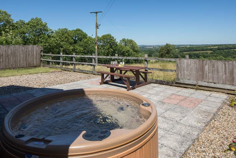 Bubbling away in the hot tub is a real treat, especially with views like this.