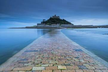 The causeway to the 'Mount' at high tide.