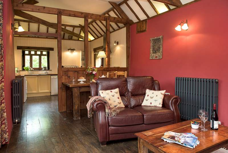 The cosy open plan living-room.