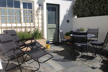 The private courtyard garden.