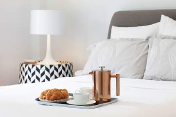 Take your time in the morning and start the day with a bit of breakfast in bed