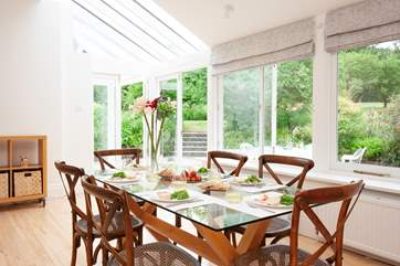 Lovely large dining table to gather around and enjoy mealtimes