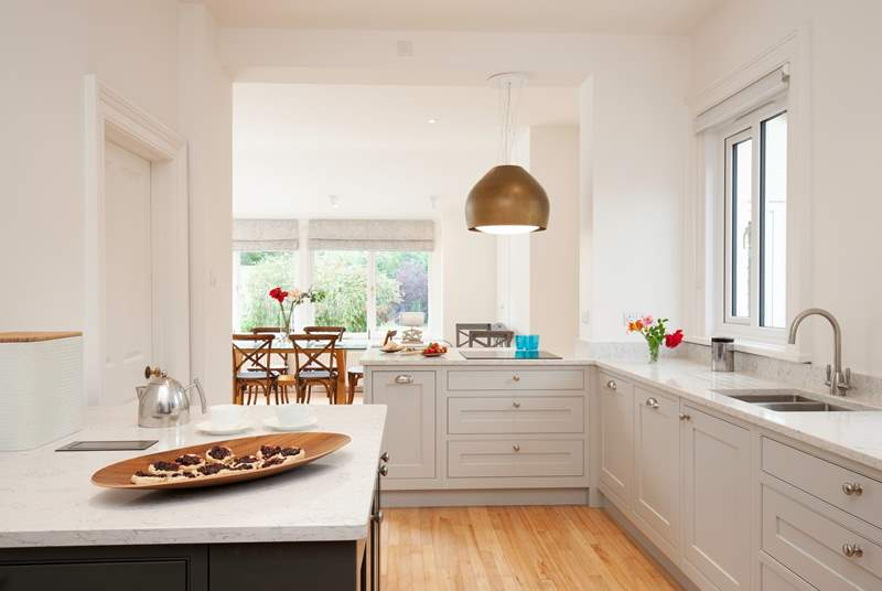 The contemporary kitchen with all mod cons