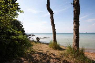 About a twenty minute walk along the coastal path takes you to into Yarmouth town