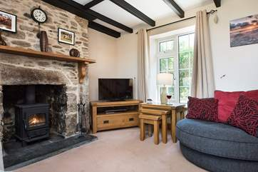 The toasty wood-burner is a welcome sight on cooler evenings