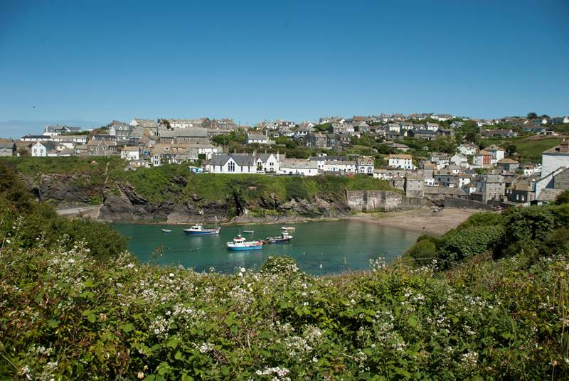 The pretty village of Port Isaac - famous for The Fishermen's Friends, Nathan Outlaw and TVs Doc Martin