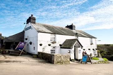 Pop into the village pub for a true Cornish welcome and some hearty food - the village shop is next door