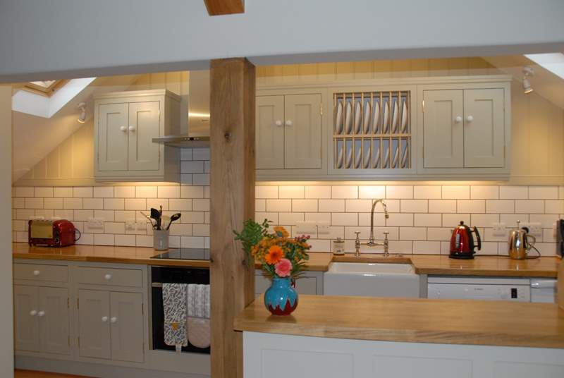 The well-appointed first floor kitchen-area.