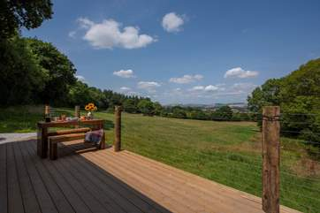 The huge decked area makes the most of the oustanding views.