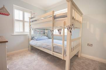 The bunk bedroom, perfect for the little ones