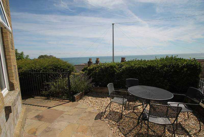 Sit and enjoy the panoramic views across The Solent, one of the best views from the Isle of Wight