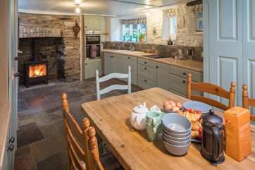 The kitchen/dining-room is such a lovely open plan area.