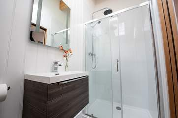 With plenty of space and a lovely big rainfall shower head.
