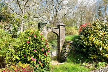 The lovely stone entrance gate.