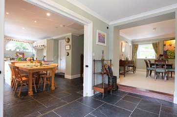 Looking from the entrance hall to the kitchen.